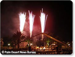 Fireworks and concert at Palm Desert Civic Park